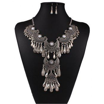Women s Vintage Jewelry Set Big Tassel