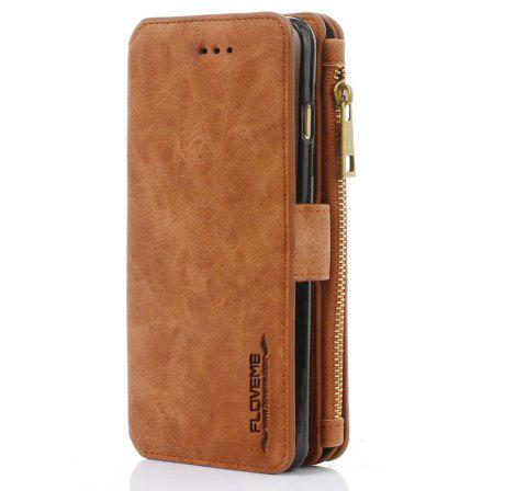 PU Wallet Case for iPhone 6 - BROWN 4.7INCH
