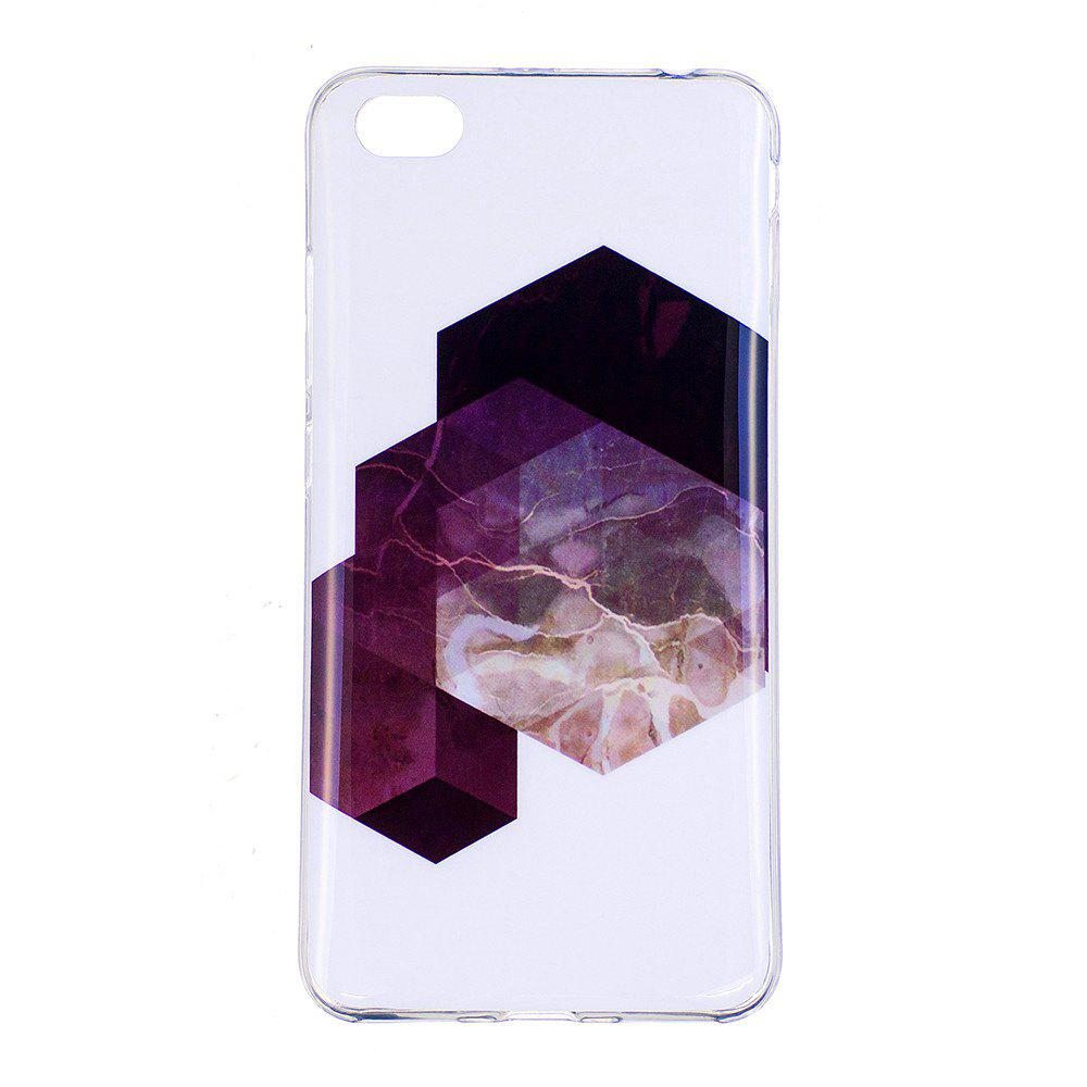 Geometry Marbling Phone Case for Xiaomi Redmi Note 5A Trend Fashion Soft Silicone TPU Protection Cover Cases - GRAY