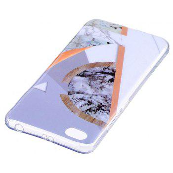 Mosaic Marbling Phone Case for Xiaomi Redmi Note 5A Trend Fashion Soft Silicone TPU Protection Cover Cases - GRAY