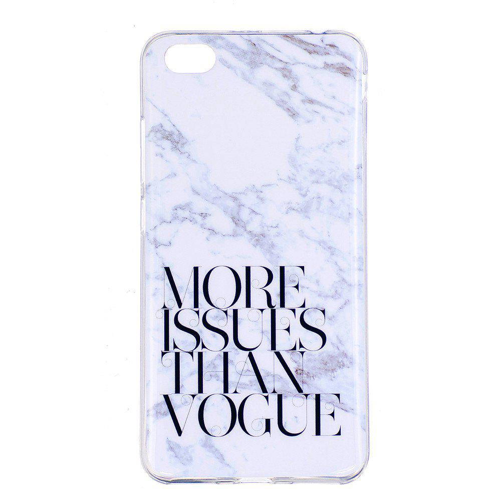 More Problems Marbling Phone Case for Xiaomi Redmi Note 5A Trend Fashion Soft Silicone TPU Protection Cover Cases - GRAY