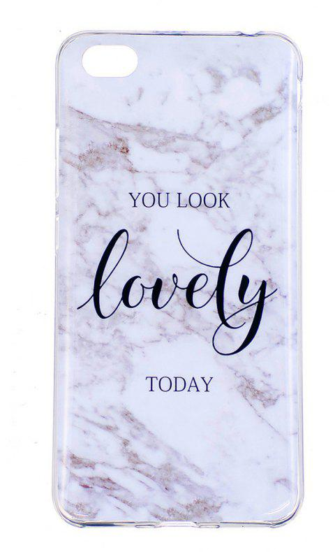 Lovely Marbling Phone Case for Xiaomi Redmi Note 5A Trend Fashion Soft Silicone TPU Protection Cover Cases - GRAY