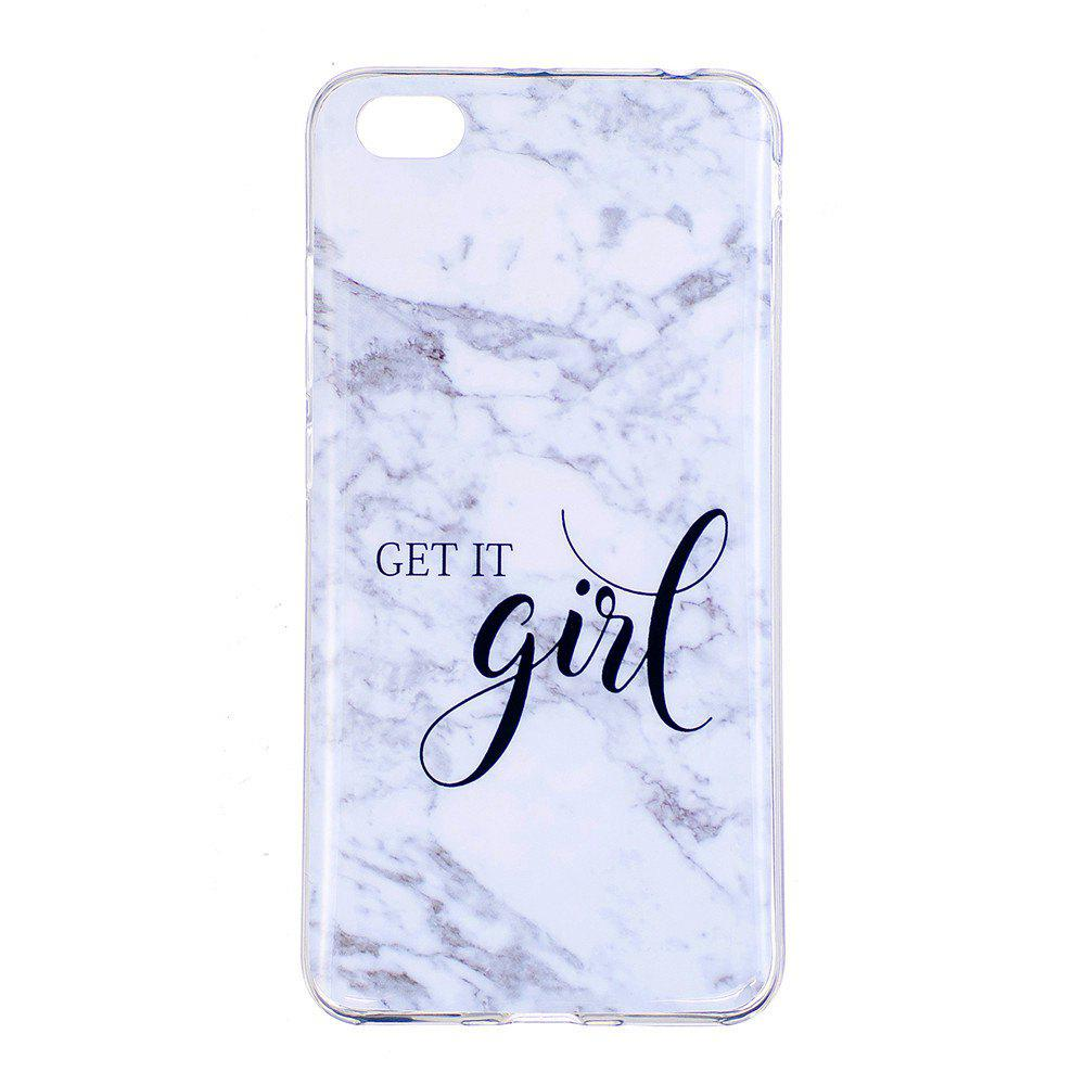 Girl Marbling Phone Case for Xiaomi Redmi Note 5A Trend Fashion Soft Silicone TPU Protection Cover Cases - GRAY