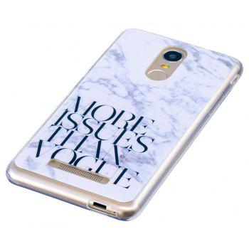 More Problems Marbling Phone Case for Xiaomi Redmi Note 3 Trend Fashion Soft Silicone TPU Protection Cover Cases - GRAY