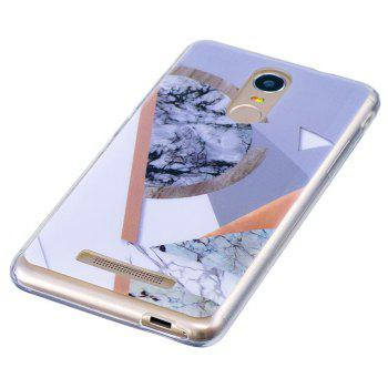 Mosaic Marbling Phone Case for Xiaomi Redmi Note 3 Trend Fashion Soft Silicone TPU Protection Cover Cases - GRAY