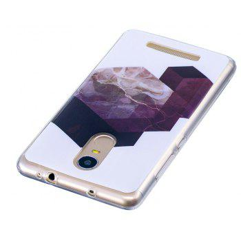 Geometry Marbling Phone Case for Xiaomi Redmi Note 3 Trend Fashion Soft Silicone TPU Protection Cover Cases - GRAY
