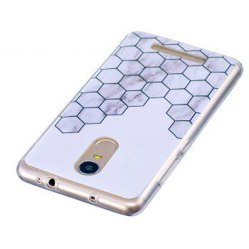 Cube Marbling Phone Case for Xiaomi Redmi Note 3 Trend Fashion Soft Silicone TPU Protection Cover Cases - GRAY