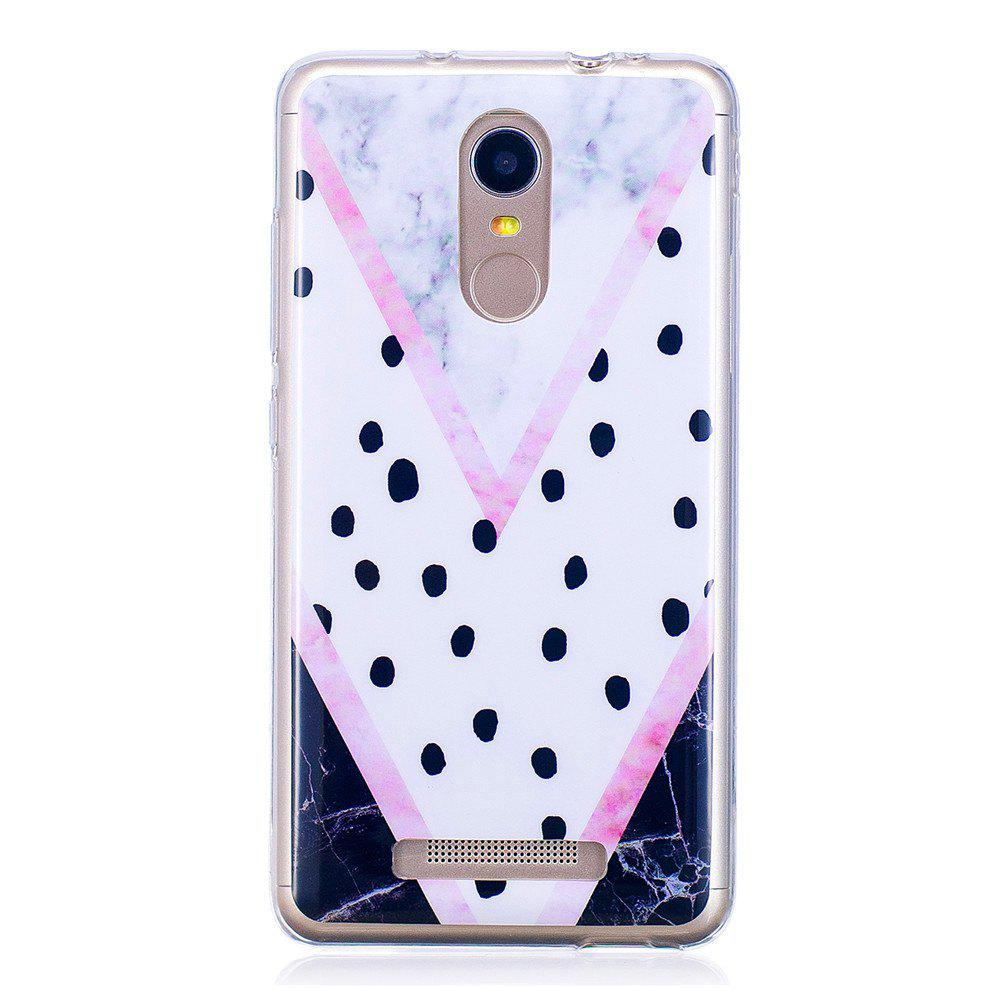 Modern Powder Marbling Phone Case for Xiaomi Redmi Note 3 Trend Fashion Soft Silicone TPU Protection Cover Cases - GRAY