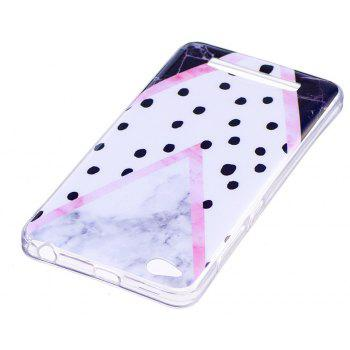 Marbling Phone Case For Xiaomi Redmi 4A Trend Fashion Soft Silicone TPU Cover Cases Protection Phone Bag - BLACK B