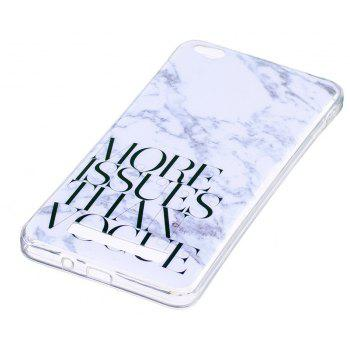 Marbling Phone Case For Xiaomi Redmi 4A Trend Fashion Soft Silicone TPU Cover Cases Protection Phone Bag - WHITEB