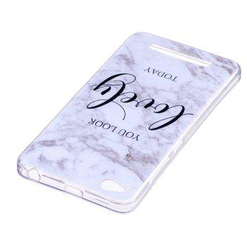 Marbling Phone Case For Xiaomi Redmi 4A Trend Fashion Soft Silicone TPU Cover Cases Protection Phone Bag - GRAY A STYLE SIZE S