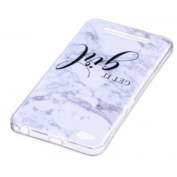 Marbling Phone Case For Xiaomi Redmi 4A Trend Fashion Soft Silicone TPU Cover Cases Protection Phone Bag - GRAY B STYLE SIZE S