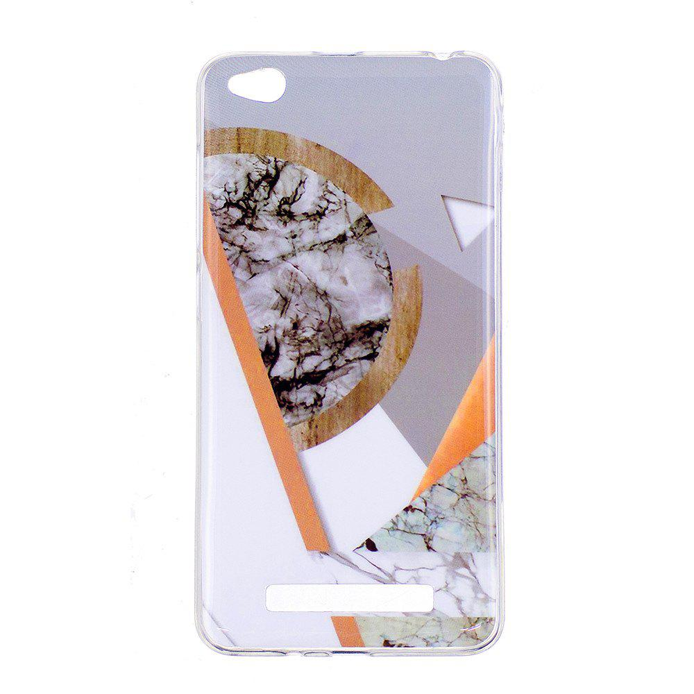Marbling Phone Case For Xiaomi Redmi 4A Trend Fashion Soft Silicone TPU Cover Cases Protection Phone Bag - GRAY