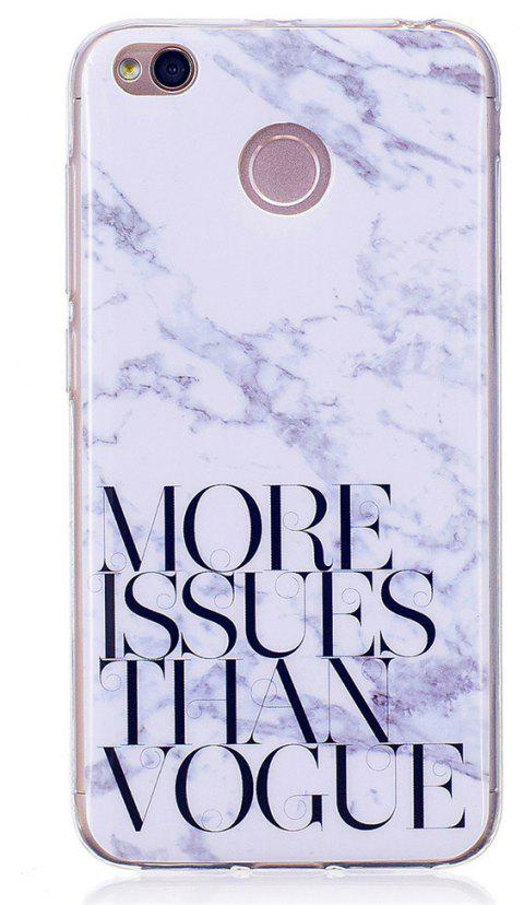 Marbling Phone Case For Xiaomi Redmi 4X Trend Fashion Soft Silicone TPU Cover Cases Protection Phone Bag - WHITEB