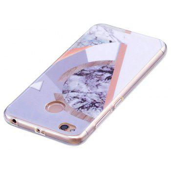 Marbling Phone Case For Xiaomi Redmi 4X Trend Fashion Soft Silicone TPU Cover Cases Protection Phone Bag - GRAY