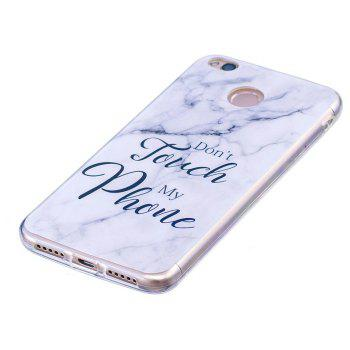 Marbling Phone Case For Xiaomi Redmi 4X Trend Fashion Soft Silicone TPU Cover Cases Protection Phone Bag - GRAY B STYLE SIZE L