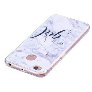 Marbling Phone Case For Xiaomi Redmi 4X Trend Fashion Soft Silicone TPU Cover Cases Protection Phone Bag - GRAY B STYLE SIZE S