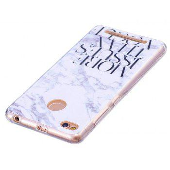 Marbling Phone Case For Xiaomi Redmi 3S / Redmi 3 Pro Case Fashion Soft Silicone TPU Cover Cases Protection Phone Bag - GREY/WHITE