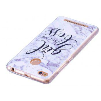 Marbling Phone Case For Xiaomi Redmi 3S / Redmi 3 Pro Case Fashion Soft Silicone TPU Cover Cases Protection Phone Bag - WHITE / GREY