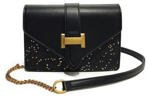 New Fashion Paillettes Messenger sac à bandoulière sac à main - Noir
