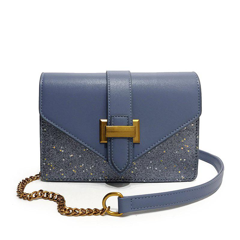 New Fashion Sequins Messenger Shoulder Bag Handbag - BLUE
