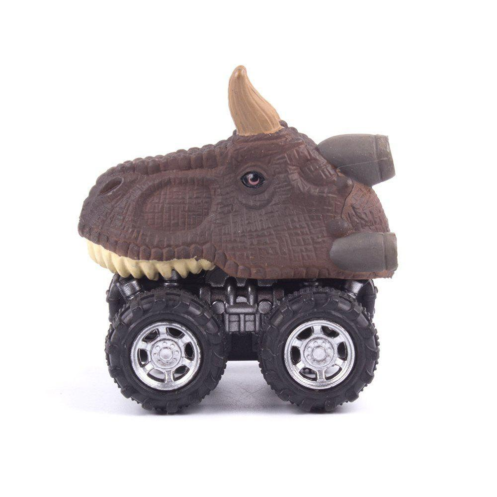 Dinosaur Model Mini Toy Car Gift for Children - DEEP BROWN