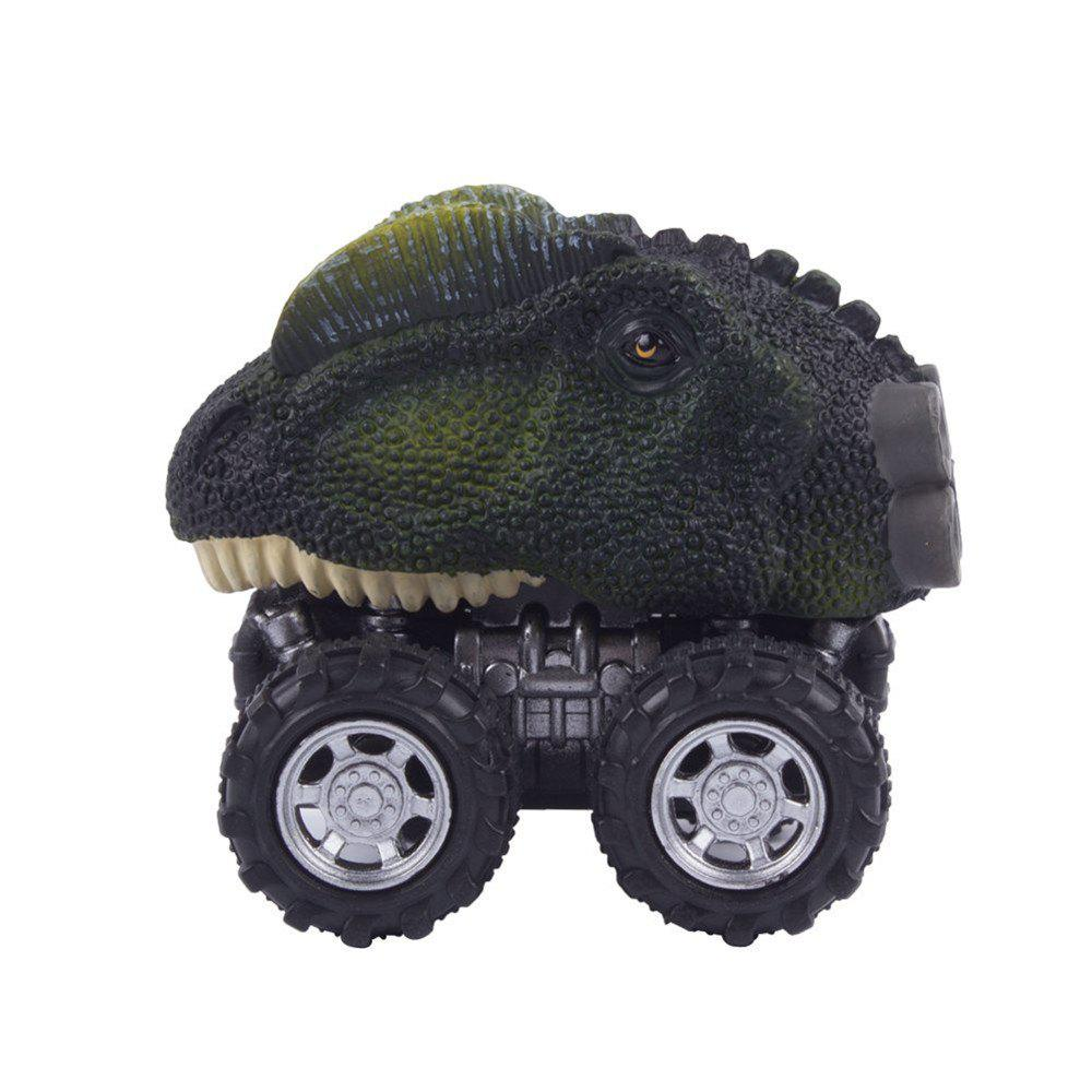 Dinosaur Model Mini Toy Car Gift for Children A - GREEN