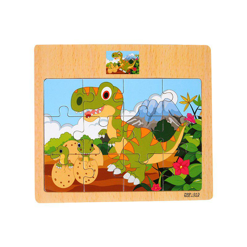 Children Jigsaw Puzzle Toy Dinosaur - COLORMIX