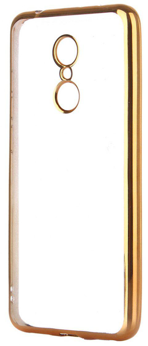 ASLING Transparent Back Case for Xiaomi Redmi 5 Electroplating TPU Soft Cover Protector - GOLDEN
