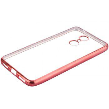 ASLING Transparent Back Case for Xiaomi Redmi 5 Electroplating TPU Soft Cover Protector - ROSE GOLD
