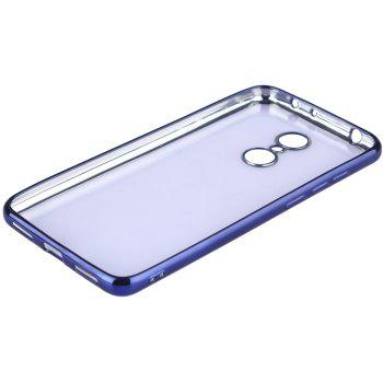 ASLING Transparent Back Case for Xiaomi Redmi 5 Electroplating TPU Soft Cover Protector - BLUE