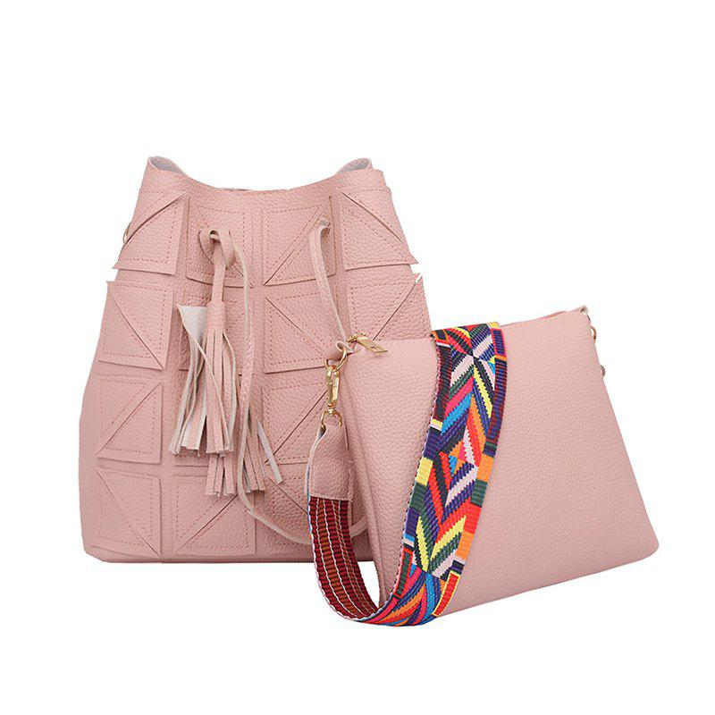 Wild Messenger Shoulder Bag Two-Piece Suit - PINK