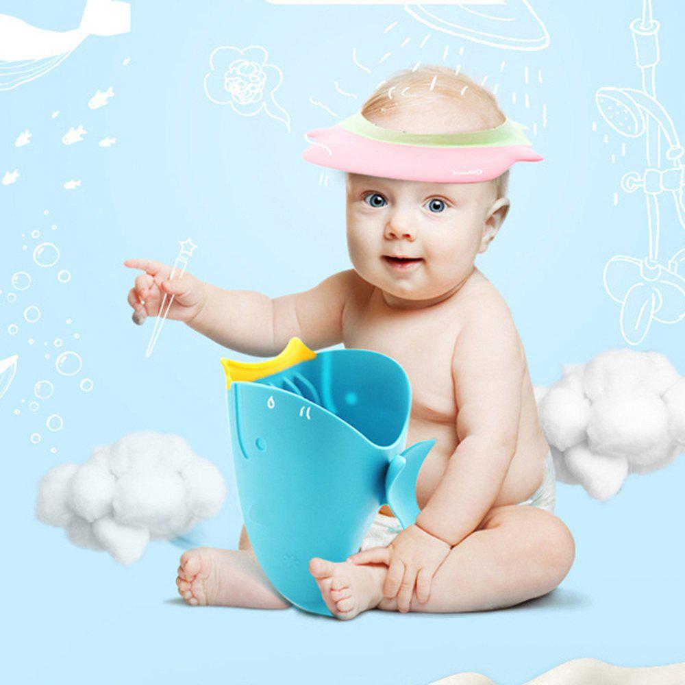 Whale Cartoon Baby Shower Water Scoop Bath Cup - BLUE