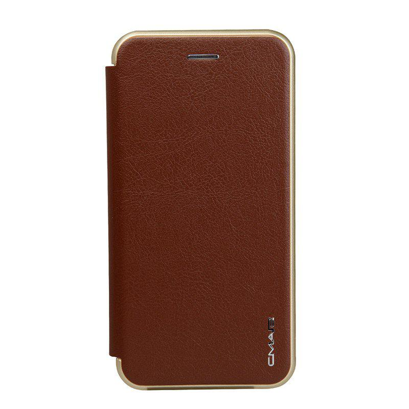 Clamshell Bracket Holster Case for iPhone 8 Plus - BROWN