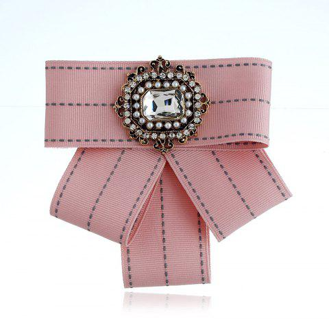 Femmes Bow Broches Broches Ruban Trendy Broches Bijoux Bowknot Broche Vintage Col Pin Corsage Shirt Robe Bijoux - Rose