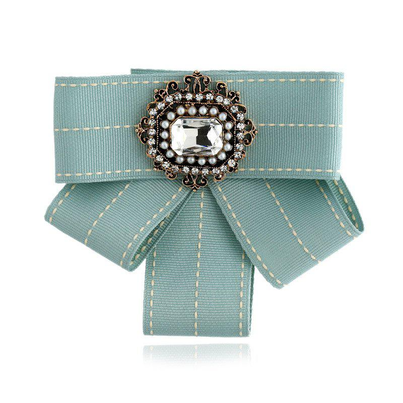 Femmes Bow Broches Broches Ruban Trendy Broches Bijoux Bowknot Broche Vintage Col Pin Corsage Shirt Robe Bijoux - Vert