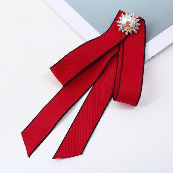 Brooches Zinc Promotion Rushed Pin Manual Bow Brooch Women Clothing Accessories College Cloth Art Jewelry - RED