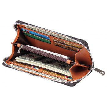 New Simple Long Section Multi-Card Hand Bag Men's Business Fashion Large-Capacity Wallet - BLACK