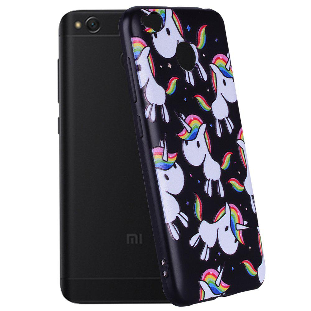 Case For Xiaomi Redmi 4X Rainbow Unicorn Design TPU Hand Case - COLOUR