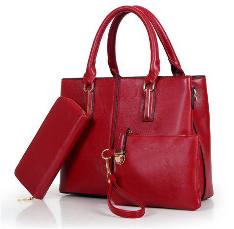 Shoulder Messenger Handbags Ladies Fashion Bag - RED