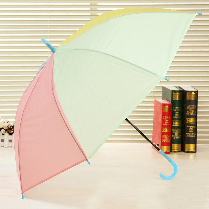 Long Handle Frosted PVC Plastic Environmental Protection Umbrella - COLORMIX OPEN 96 CM IN DIAMETER