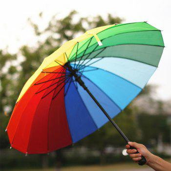 16 K Wind Automatically Long-Handled  Umbrella - COLOUR OPEN 79 CM IN DIAMETER