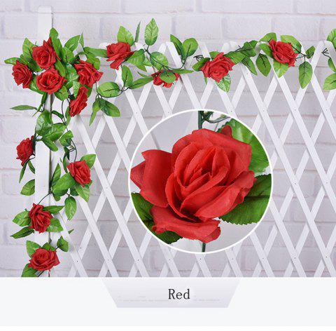 1Pc Artificial flower Cane European Style Wedding Party Home Decoration - RED