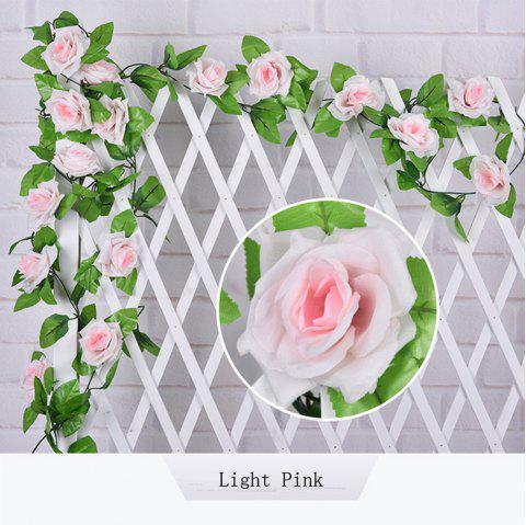 1Pc Artificial flower Cane European Style Wedding Party Home Decoration - LIGHT PINK