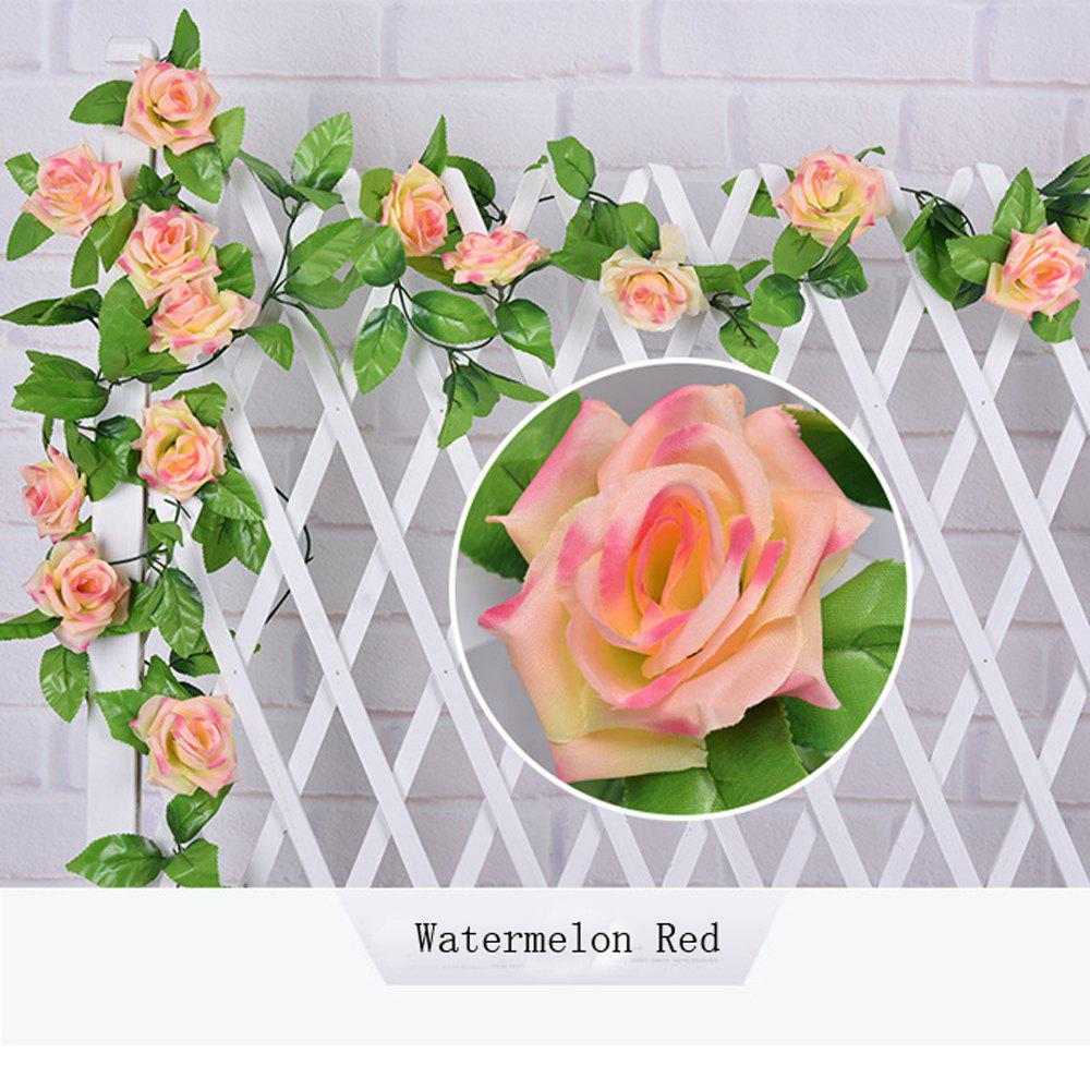1Pc Artificial flower Cane European Style Wedding Party Home Decoration - WATERMELON RED