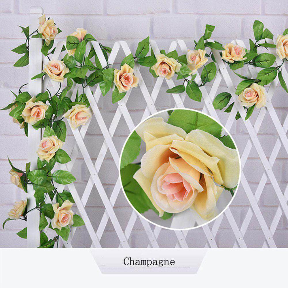 1Pc Artificial flower Cane European Style Wedding Party Home Decoration - CHAMPAGNE