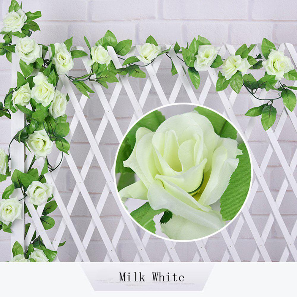 1Pc Artificial flower Cane European Style Wedding Party Home Decoration - MILK WHITE