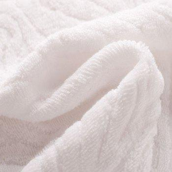 2 Pcs Face Towels Eco-friendly Antibacterial Comfy Soft Towels - COFFEE / WHITE 33CMX 74CM