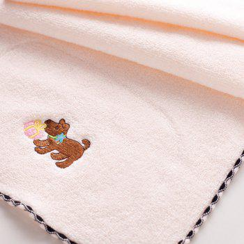 2 Pcs Face Towels Lovely Cartoon Dog Pattern Soft Towels - PINK/GREEN 25CM X 50CM
