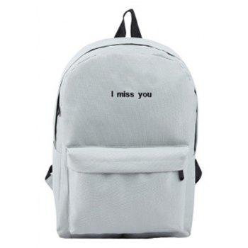 Women s Backpack Fashion Simple Letter Embroidery